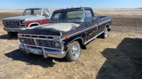 1973 Ford F-100 truck w/ toolbox, 31,855 showing, vin-F10HC052556, Owner: James C Heaman Seller: Fraser Auction_________________