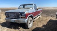 1983 Ford F-250 4x4 truck w/ reg cab, 4x4, 178,024km showing, vin-2FTEF26G4DCA44392 Owner: James C Heaman Seller: Fraser Auction___________________
