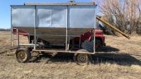 12' Gravity tank on four wheel Farm King wagon