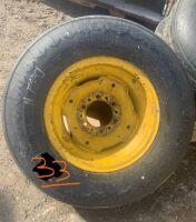 New 11L-15SL impliment tire on rim