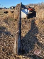 (6) hydro poles various lengths (sells as a lot)