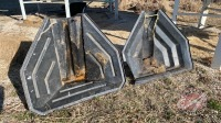 (2) standard poly auger hoppers (1 is poor)