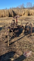 Single furrow sulkie plow