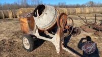 Cement mixer driven by IH Stationary engine