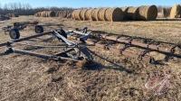 Old Harrow parts & rake hitch (scrap iron)