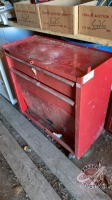 bottom tool chest with assorted tools and miscellaneous