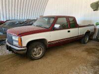 *1992 GMC SLE ext cab 2wd truck, 186,975kms showing, VIN#2GTEC19K7N1537936, Owner: MOIR FARMS LTD, Seller: Fraser Auction ______________ ***TOD & KEYS***