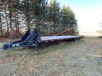*2004 36' Load Max tandem dualled flat deck pintle hitch trailer, VIN#5L8GF362541000834, Owner: Clare A Moir, Seller: Fraser Auction____________ ***TOD & SAFETIED***
