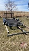 7.5ftx4ft Single axle tilt deck utility trailer w/fold down ramps, NO TOD