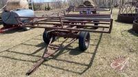 4-wheel wagon with 15ft steel tube bale deck