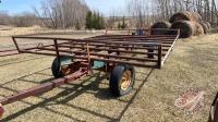 4-wheel wagon with 14ft steel tube bale deck