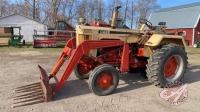 Case 830 tractor w/loader, manure fork