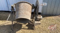 Cement mixer w/electric motor
