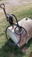 Skid tank with push pull pump