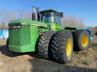 1984 JD 8850 4wd 370hp tractor (engine is seized, just powered down)