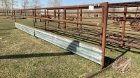 *30' free standing bunk feeder panel