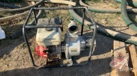 """*Ducar 4"""" water pump w/foot valve and discharge hose (not running)"""