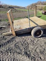 Irrigation pump raft. Raft used to float pump on dugout or river. 8x8 feet. Styrofoam filled.