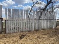 *25' Free Standing Wind Break panel w/boards