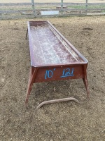 *10' metal trough feeder
