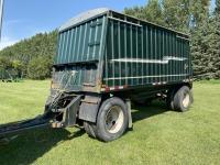 1986 Loadking 17' s/a hopper bottom grain trailer, VIN#2L9DT1721GW004754, Owner: McPhail Farms Ltd, Seller: Fraser Auction_____________ ***TOD & KEYS***