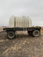 2002 Homemade 17' s/a flat deck trailer, Owner: McPhail Farms Ltd, Seller: Fraser Auction________, ***TOD***