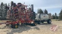40ft Bourgault 5710 Series II air seeder w/Bourgault 4350 air cart