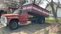 1977 Ford F-600 s/a grain truck w/14ft B+H, 77086 showing, VIN #F610VX81927, Owner: Dennis M Slobodzian, Seller: Fraser Auction__________