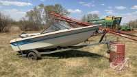 16ft Edson boats/50hp Mercury outboard, s/a trailer (NO TOD)