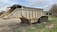 1983 22ft Arnes triple axle belly dump gravel trailer, VIN#2A9172837DA003423, Owner: D L Wilson, Seller: Fraser Auction______________________