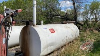 1000-gal fuel tank w/Tuthill 115 volt pump and meter
