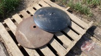 (3) new and (4) used blades for JD disc