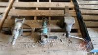 Vise, Makita angle grinder, half inch electric drill