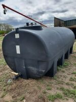 approx 1600-gal poly black out water tank