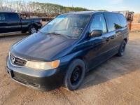 *2004 Honda Odyssey LX Passenger Van, 337,247 kms showing, VIN#2HKRL18594H005565 F118 Owner: Robert G Deleau, Seller: Fraser Auction__________ ***TOD & KEYS***