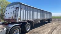 1980 Freuhauf DBLhopper t/a grain trailer, VIN# SWT252802, SAFETIED Owner: J & M Farms Ltd, Seller: Fraser Auction__________________________