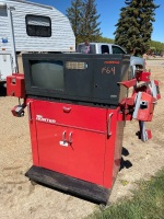 Hunter H111 4 Wheel Alighment Machine, paper print out, leather Cover F64