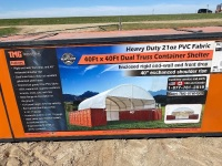 40x40 Dual Truss Container Shelter - New F114