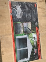 21'x19' Metal Shed DBL Garage - doors not included, New F114