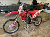*2010 Honda CRF 450R Motorcycle, 4 stroke EFI, 78 hrs showing, ***MANUAL - OFFICE TRAILER*** F155