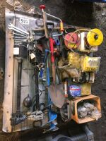 PEDESTAL WATER PUMP, ELECTRIC FENCE SUPPLIES, MISC TOOLS
