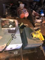 HOUSEHOLD-BATHROOM VANITY, ELECTRIC CHAIN SAW, ELECTRIC GRASS TRIMMER