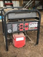 COLEMAN POWER MATE 5000W GENERATOR; 120/240 VOLT PLUGS 10 HP TECUMSEH