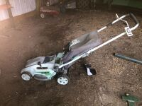 GREEN WORKS ELECTRIC LAWNMOWER WITH BAG