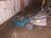 YARD WORKS ELECTRIC LAWN MOWER WITH BAG