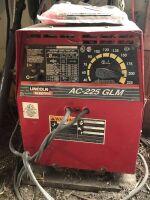 LINCOLN AC-225 GLM ARC WELDER, 230 VOLT