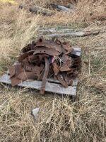 pallet of misc cultivator shovels