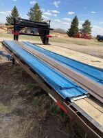 (11) 12' sheets of colored metal cladding
