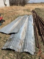 (8) sheets of corrugated metal cladding ranging from 14' long and up