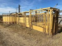 *Tuff Industries Portable cattle handling system w/squeeze chute, auto catch headgate, palp cage, ally way & crowding tub, wheel kit included